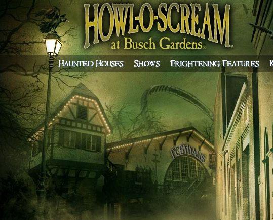 Howl o scream williamsburg web site is live scare zone - Busch gardens williamsburg halloween ...