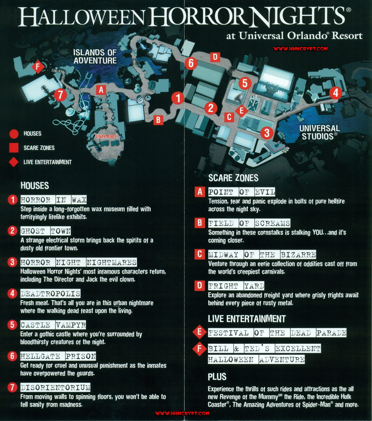hhn xiv given - Hours Halloween Horror Nights